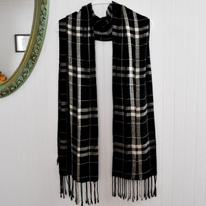 Black & White Plaid Bella Taylor Scarf